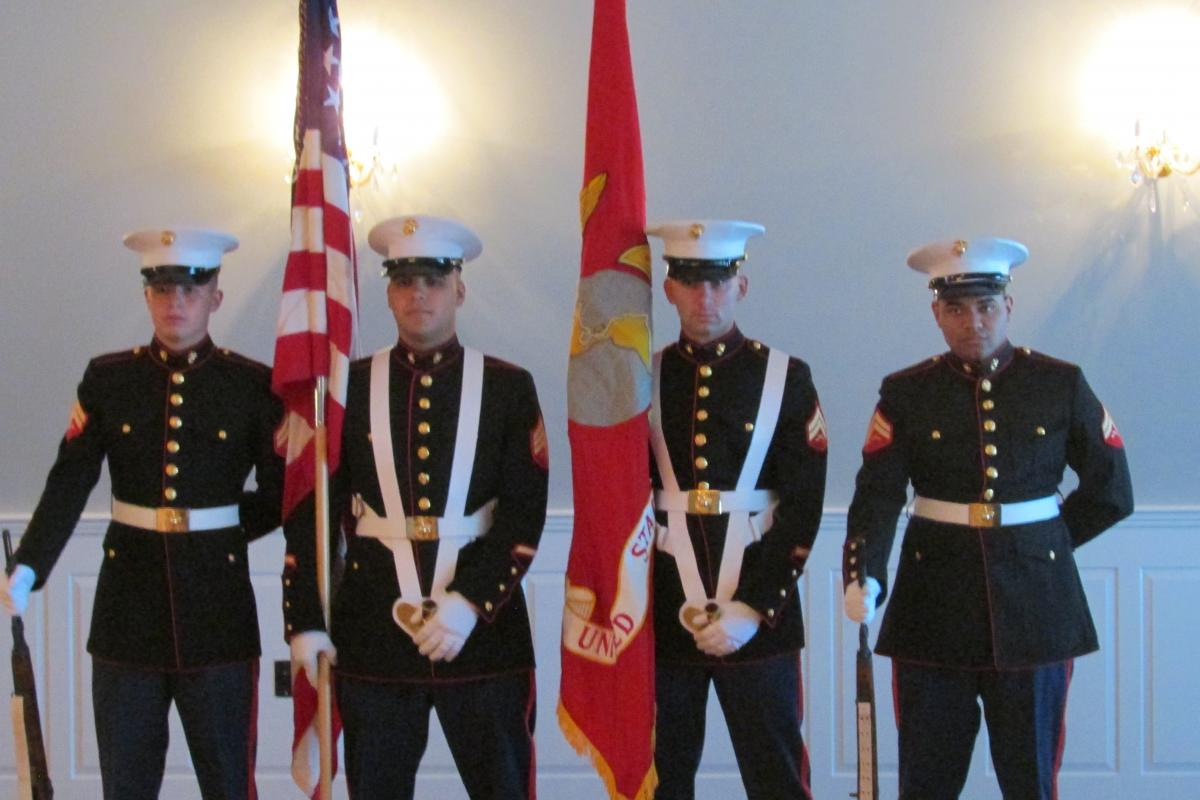 7TH ANNUAL DINNER AT THE HILLVIEW 25TH REG MARINE CORPS COLOR GUARD