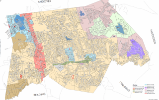 Affordable Housing Overlay District - parcels outlined in red